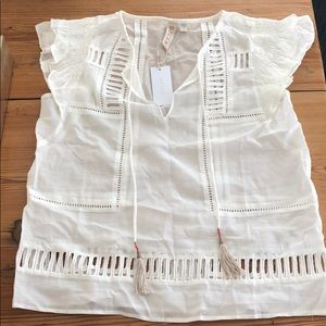 NWT Dolan Blouse with Tassels